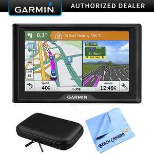 Garmin Drive 61 LM GPS Navigator with Driver Alerts USA (010-01679-0B) with PocketPro XL Hardshell Case for 7-Inch Tablets & 1 Piece Micro Fiber Cloth