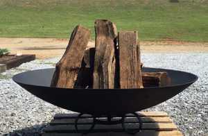 "Deeco Safari Heavy Duty Cast Iron Design Fire Pit Bowl 40"""
