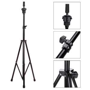 Wig Stand Adjustable Metal Tripod Stand Holder Hairdressing Training Head Mold Wig Mannequin Stand