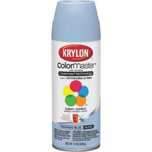 Krylon COLORmaxx K05530007 Spray Paint, Gloss, Peekaboo Blue, 12 oz, Aerosol Can