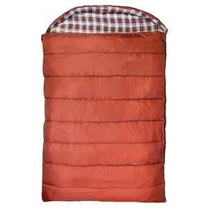Kamp-Rite 60 x 78 Inch Cotton Double Wide Rectangular Sleeping Bag 20 Degree