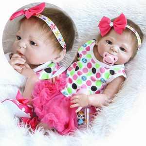 "Ktaxon 23""Reborn Full Body Silicone Girl Baby Doll Newborn Preemie Dolls Babies"