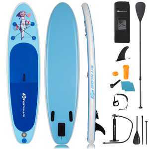 Goplus 10' Inflatable Stand Up Paddle Board SUP W/ Fin Adjustable Paddle Backpack Sport