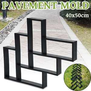 DIY Path Maker Reusable Mould Concrete Cement Stone Walk Paving Paver 40x50cm