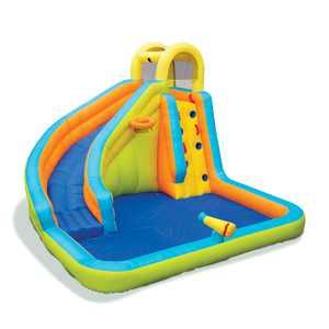 Banzai 28140 Splash 'N Blast Kids Outdoor Backyard Inflatable Water Slide Park