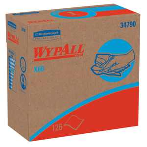 Wypall X60 Reusable Cloths (34790) in Convenient Pop-Up Box, White