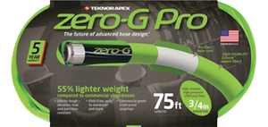 Teknor Apex Zero-G Pro 3/4 in. Dia. x 75 ft. L Green Garden Hose