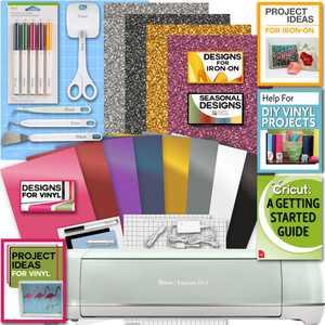 Cricut Explore Air 2 Machine Bundle Iron On Vinyl Pack Tools Pen Design Guide - Mint