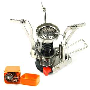 Portable Folding Outdoor Stove Cookware Gas Camping Stove Hiking Picnic BBQ Tank Cooker Furnace Mini