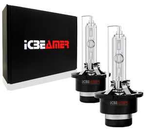 ICBEAMER 8000K D2S D2C D2R Xenon Factory HID Replace Philip Sylvania Osram OEM Headlight low beam Color Light Blue bulb
