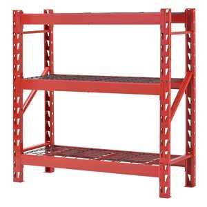 48 in. W x 48 in. H x 18 in. D 3-Shelf Welded Steel Garage Storage Shelving Unit