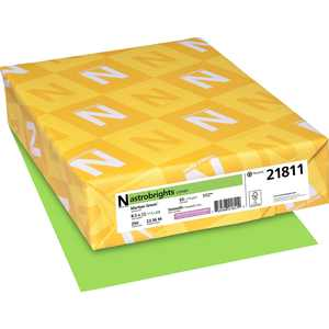 Astrobrights Laser, Inkjet Card Stock - 30% Recycled, Martian Green (Lime Green), 250 / Pack (Quantity)
