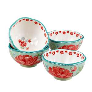The Pioneer Woman Gorgeous Garden Bowls, Set of 4