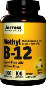 Jarrow Formulas Vitamin B12 Lozenges, Lemon, 1000mcg, 100Ct