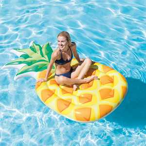 "Intex 85"" x 49"" Giant Inflatable One Person Pineapple Swimming Pool Float Mat"