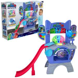 PJ Masks Saves the Day HQ 36-Inch Tall Interactive Playset with Lights and Sounds, By Just Play