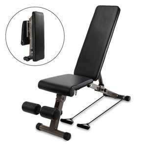 Zimtown Folding Weight Bench, Adjustable Incline Decline Exercise Bench, for Body Workout, Strengthen Muscles