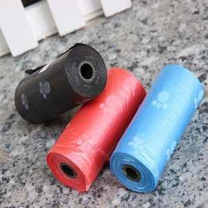 4 Rolls Printing Dog Cat Waste Garbage Clean Poop Refill Big Bags Pet Supplier HITC