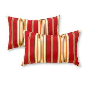 Roma Stripe 19 x 12 in. Outdoor Rectangle Accent Pillow, Set of 2