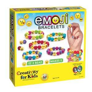 Creativity for Kids Emoji Bracelet - Multicolor Child Craft Kit for Boys and Girls
