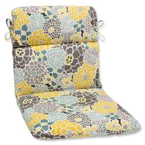 Outdoor Full Bloom Rounded Corners Chair Cushion