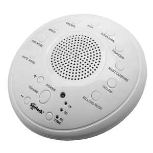 SonTech - White Noise Sound Machine - 10 Natural Soothing Sound Tracks - Home, Office, Travel, Baby - Multiple Timer Settings - Battery or Adapter Charging Options