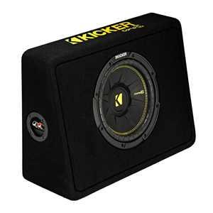 "Kicker 44TCWC102 CompC 10"" 600 Watt 2-Ohm Loaded Shallow Car Subwoofer Enclosure"