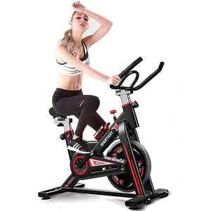 SKONYON Exercise Bike Stationary Indoor Cycling Bike Heavy Duty Flywheel Bicycle for Home Cardio Workout