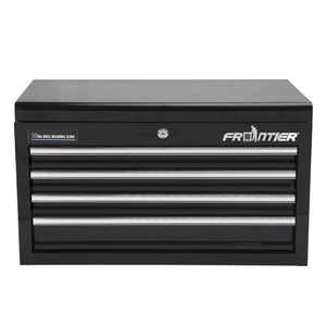 Frontier 26-inch 4 Drawer Top Steel Tool Chest, Tool Organizer, Black