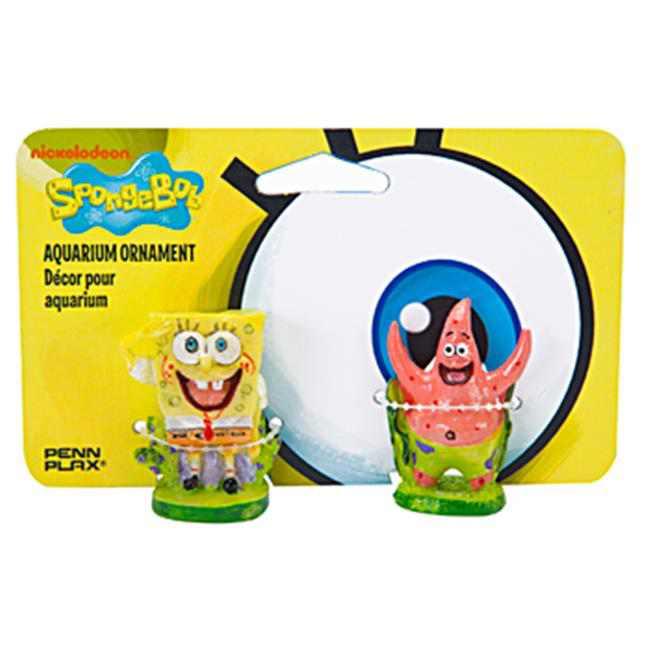 Penn Plax SBCP1 Spongebob & Patrick Combo Pack
