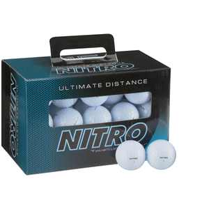 Nitro Golf Ultimate Distance Golf Balls, White, 45 Pack