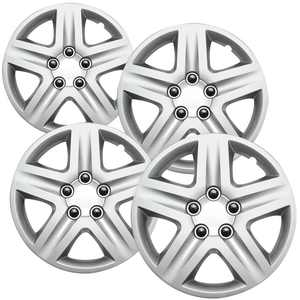 OxGord Hub-caps for 06-13 Chevrolet Impala (Pack of 4) Wheel Covers 16 inch Snap On Silver