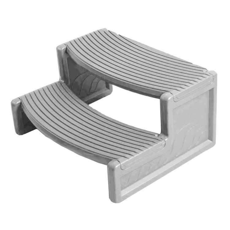 Confer Plastics HS2-G Resin Multi Purpose Spa Hot Tub Handi-Step RV Steps   Gray