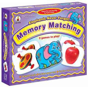 Carson-Dellosa Elephants Never Forget Memory Match Game
