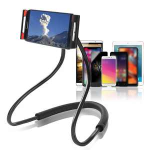 TSV Lazy Neck Phone Holder, Adjustable Hands-free Tablet Stand, 360 Rotation Long Arm Bracket Fit for iPhone 12 Pro Max 11 Pro Max/11 Pro/11, iPad Pro 11 2020/10/Air 3/Mini 5, Galaxy S20