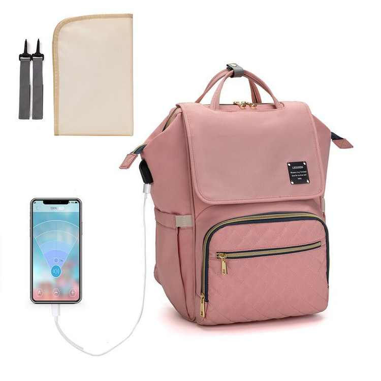 Diaper Bag Backpack, Vbiger Baby Diaper Bags for Girls Boys Large Capacity Waterproof Stylish Durable Toddler Travel Nappy Bag Large with USB Charging and Stroller Hooks/Changing Pad