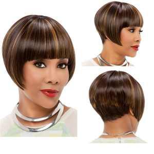 FollureShort Bobo Human Mix Hair Lace Wig Glueless Stragiht Wigs Black Women