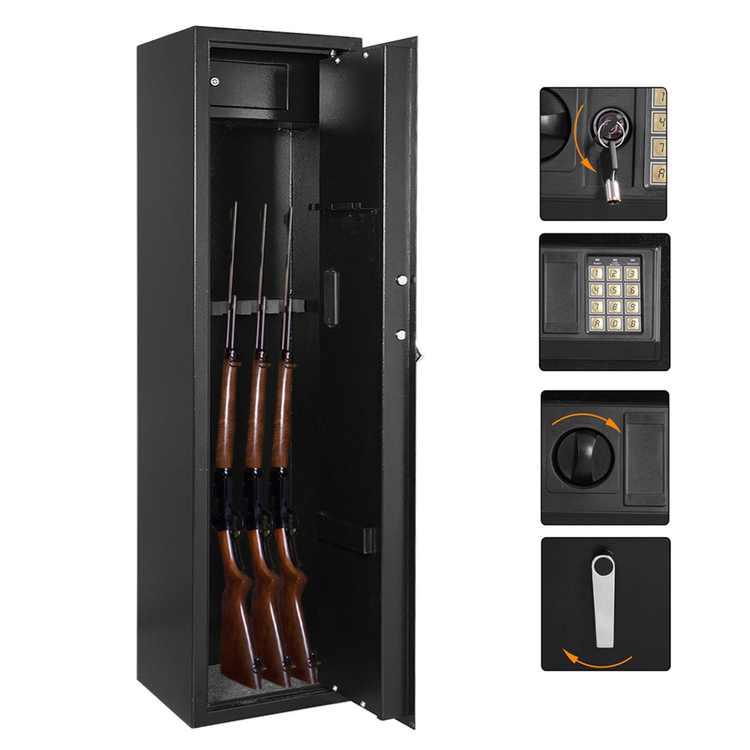ZOKOP Gun Safe 5 Rifle Large Storage Cabinet Electronic Lock, with Separate Lock Box