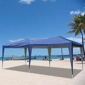Zimtown 10' x 20' Pop-Up Canopy Tent Instant Practical Waterproof Folding Tent with Carry Bag