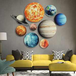 Solar System Planets Wall Stickers for Kids Room Living Room Home Decoration Wall Decal Home Decor Baby Nursery Wall Decoration