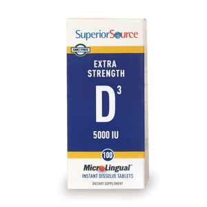 Superior Source Extra Strength Vitamin D3 5,000 IU, MicroLingual Tablets, 100 Count