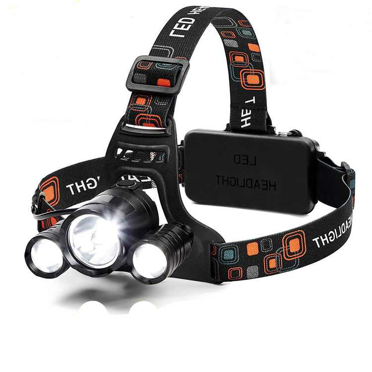 LED Headlamp 6000 Lumen Flashlight, 4 Modes Light, Rechargeable 18650 Headlight, Waterproof Hard Hat Light, Running Bright Head Lights, Hunting or Camping Headlamps+Charger+Car Charger