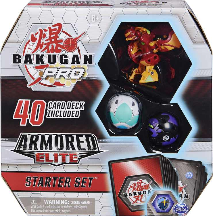 Bakugan Pro, Armored Elite Starter Set with Batrix Ultra, 2 Bakugan and Collectible Trading Cards