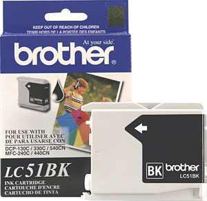 Brother LC51 Black Ink Cartridge Standard (LC51BK) 645317