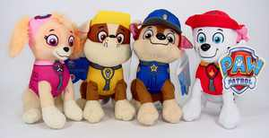 "Paw Patrol Plush Pup Pal 4 Pcs Character Plush Set Marshall Chase Rubble Skye 8"" Plush Doll, paw patrol plush doll, 4pc set By Nickelodeon"