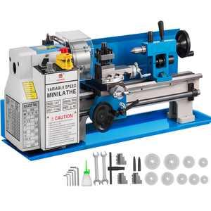 "VEVOR 7""x14"" Mini Metal Lathe 550W Precision Metalworking Variable Speed Milling"