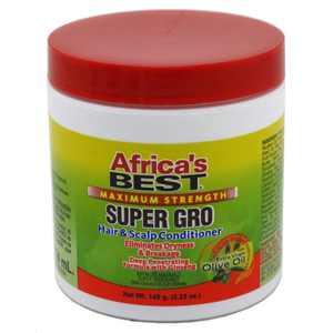 Africa's Best Super Gro Hair & Scalp Conditioner, Maximum Strength, 5.25 Oz.