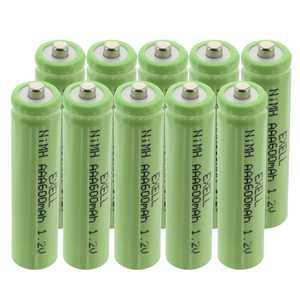 10x Exell 1.2V NIMH AAA 800mAh Rechargeable Button Top Batteries FAST USA SHIP