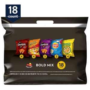 Frito-Lay Bold Mix Snacks Variety Pack, 18 Count