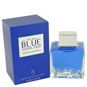Antonio Banderas Blue Seduction Eau de Toilette, Cologne for Men, 3.4 Oz